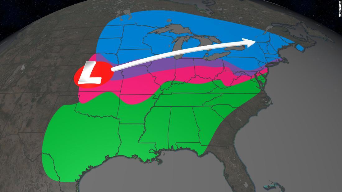 単位百万のパスの大規模な冬の嵐とするものとして、北東