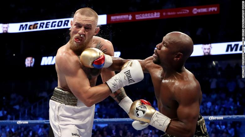 McGregor suffered a 10th-round stoppage by TKO to Mayweather when they met in Las Vegas in 2017