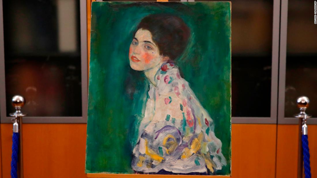 Painting found hidden in Italian gallery wall confirmed as long-lost Klimt - CNN image