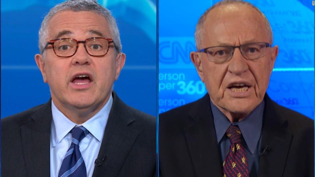 Toobin Pressen Alan Dershowitz: Welche Seite sind Sie auf?