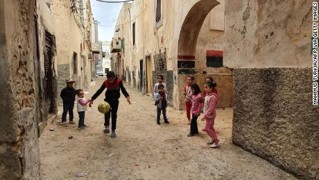Thousands of children in Libya have been forced from their homes because of ongoing fighting.