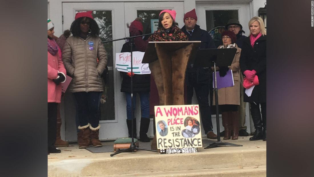 Maggie Rowe attended the Women's March held in Newark, Delaware.