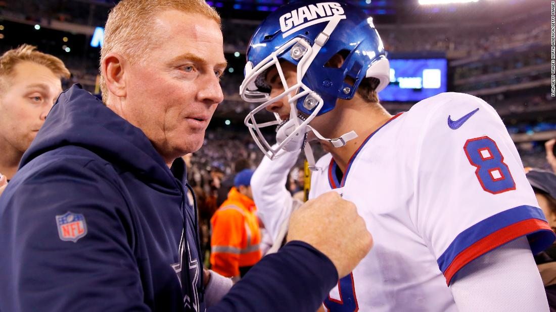 The New York Giants have hired Jason Garrett, the Cowboys' former coach, as offensive coordinator