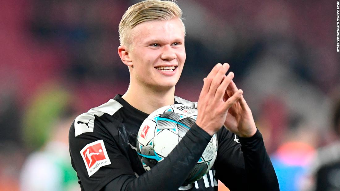 ผลการค้นหารูปภาพสำหรับ Teen sensation Erling Braut Håland scores debut hat-trick to save Borussia Dortmund