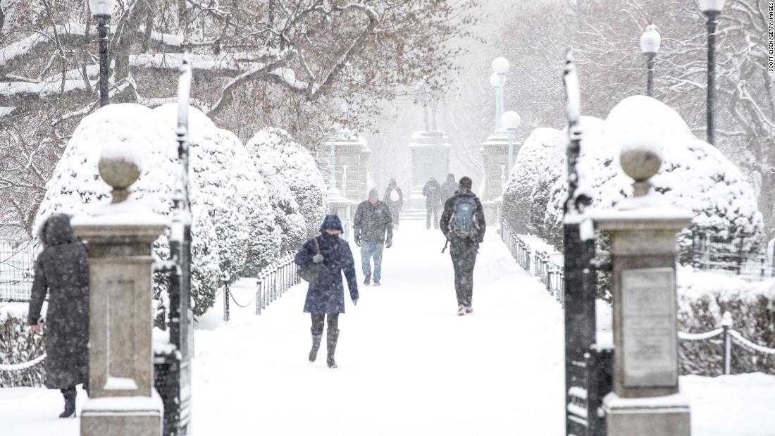 Ein winter-Sturm erwartet dump Schnee auf den Nordosten, bevor die Umstellung auf das Meer