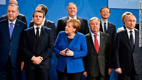 "World leaders gather in Berlin on January 19, 2020 to make a fresh push for peace in Libya, in a desperate bid to stop the conflict-wracked nation from turning into a ""second Syria""."