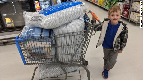 Since Tyler's birthday last fall, he has helped donate 125 pieces of bedding.
