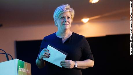 Siv Jensen, leader of the Progress Party, said she would take the party out of the right-wing coalition government Monday.