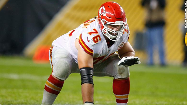 Laurent Duvernay-Tardif, seen here in action during the game against the Pittsburgh Steelers at Heinz Field on October 2, 2016 in Pittsburgh, Pennsylvania, graduated from medical school in 2018.