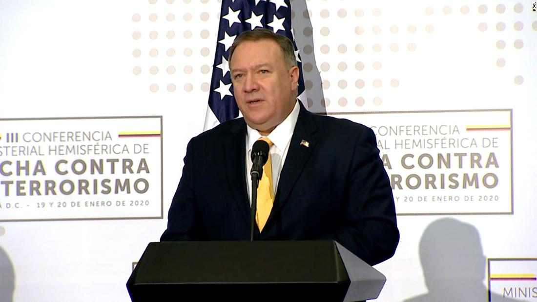 Pompeo says US diplomatic staffer in Colombia is missing and presumed dead following boating accident