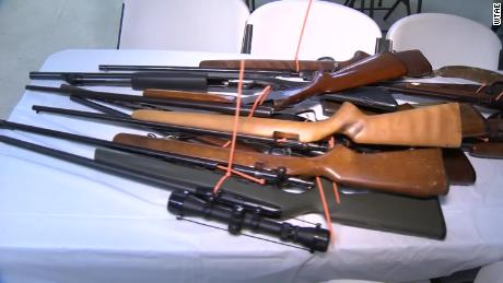 Almost 150 guns were turned in as part of a church's gun buyback on MLK Day.