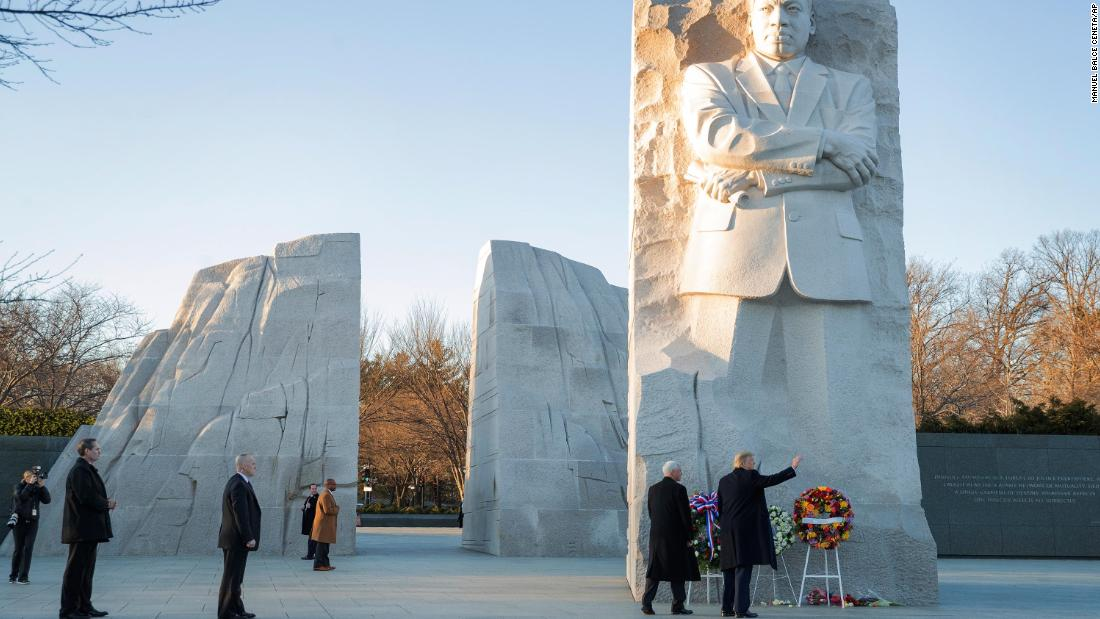 Trump commemorates Martin Luther King Jr. Day with memorial visit thumbnail