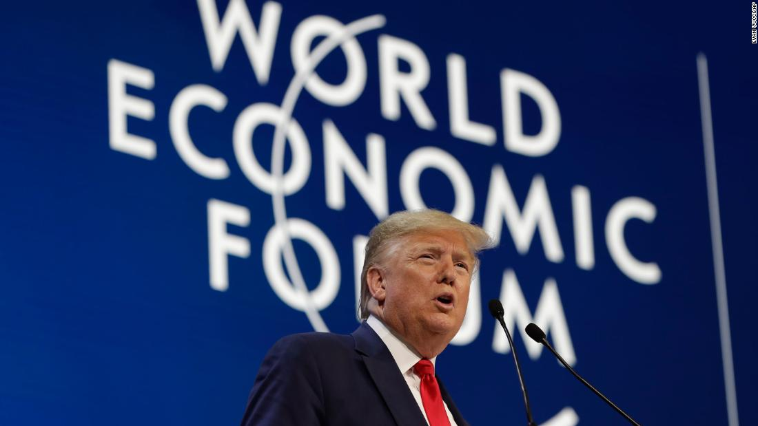 Trump calls climate activists 'perennial prophets of doom' during Davos economic forum