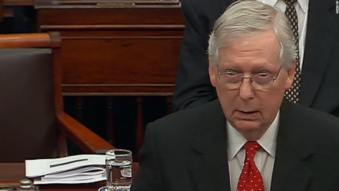 Innerhalb der republikanischen Mittagessen verlangsamt, dass McConnell den plan zu eilen, das Amtsenthebungsverfahren