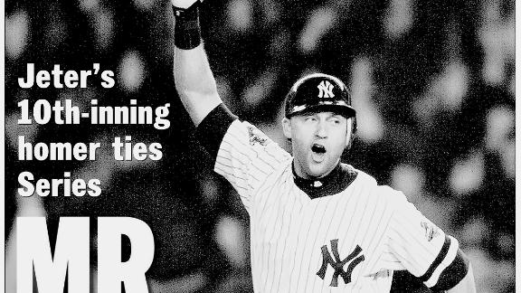 """The New York Daily News called Jeter """"Mr. November"""" after his 10th-inning home run tied the 2001 World Series at two games apiece. Although the Yankees lost the Series that year to Arizona, they had won four championships in Jeter"""