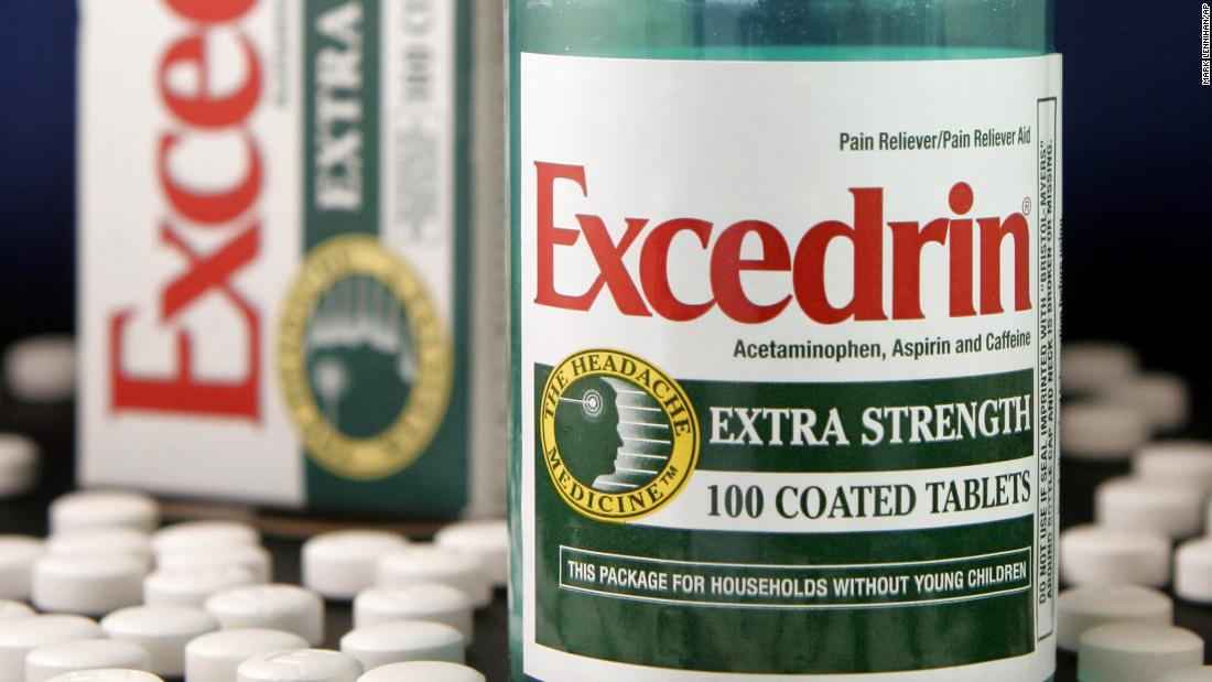 Two Excedrin products are temporarily discontinued, company says