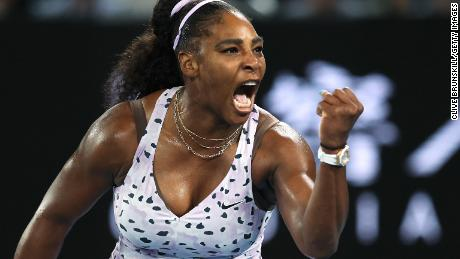 Serena Williams is pictured at the Australian Open.