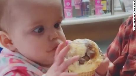 Baby Eats Ice Cream For First Time See Reaction That Went Viral