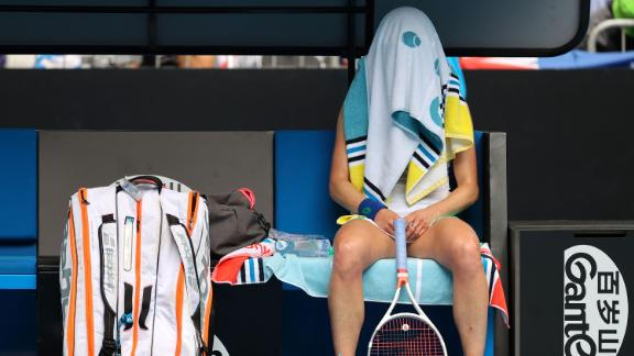 High summer temperatures mean the Australian Open is energy-sapping work. France