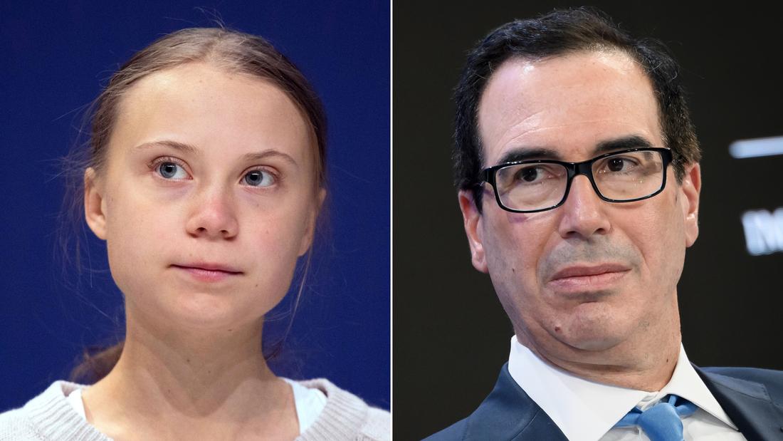 Finanzminister Steven Mnuchin feuert zurück bei Klima-Aktivistin Greta Thunberg