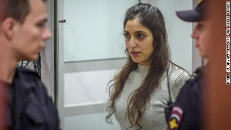 Israeli-American Naama Issachar was arrested for drug smuggling in April.
