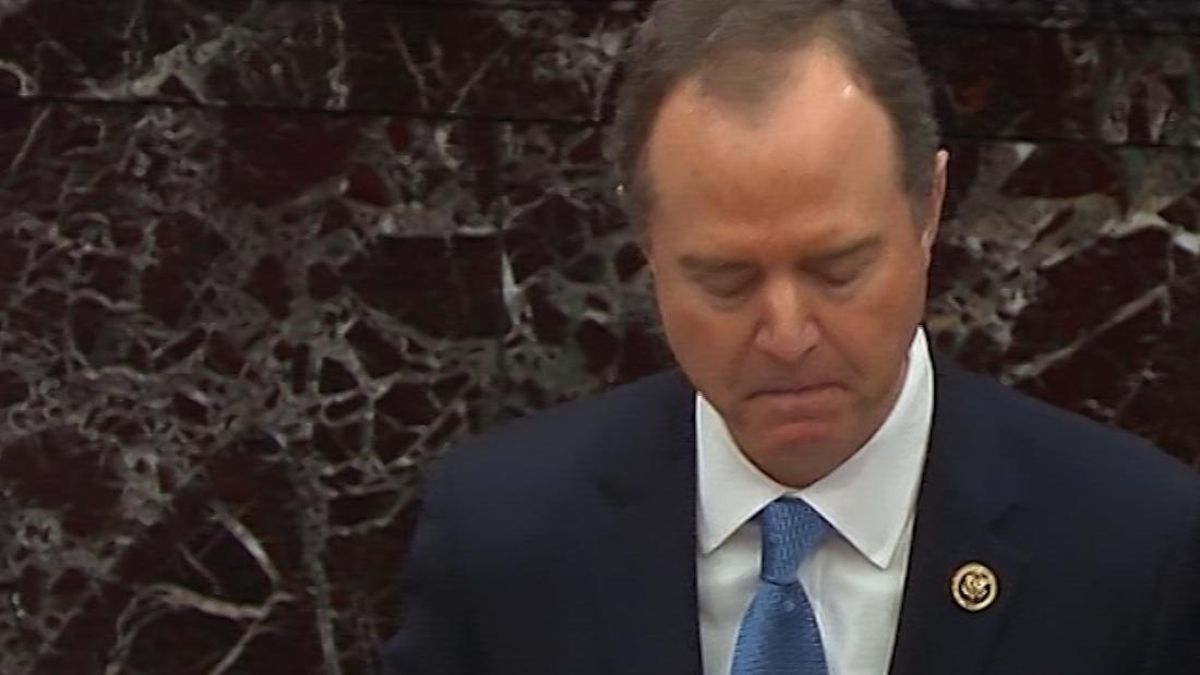 Schiff gets choked up during emotional speech