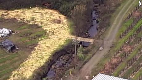 97,112 gallons of wine have spilled into a creek in Sonoma County, California on Wednesday.