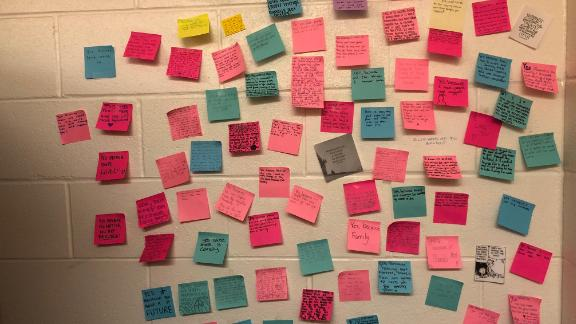 Group of post it notes from hs kids