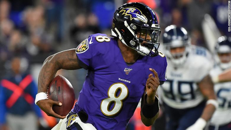 Lamar Jackson was voted NFL MVP at just 23 years old.