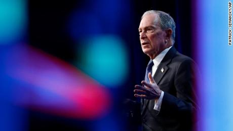 Democratic presidential candidate, former New York City Mayor Michael Bloomberg speaks at the ​U.S. Conference of Mayors' Winter Meeting, January 22, 2020, in Washington.