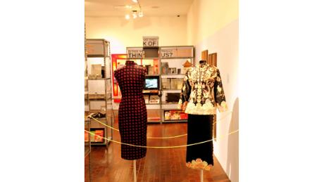 Historic dresses from the Waves of Identity exhibition that celebrated the 35th anniversary of the museum.