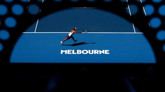 Angelique Kerber, a champion in Melbourne in 2016, takes on Italy