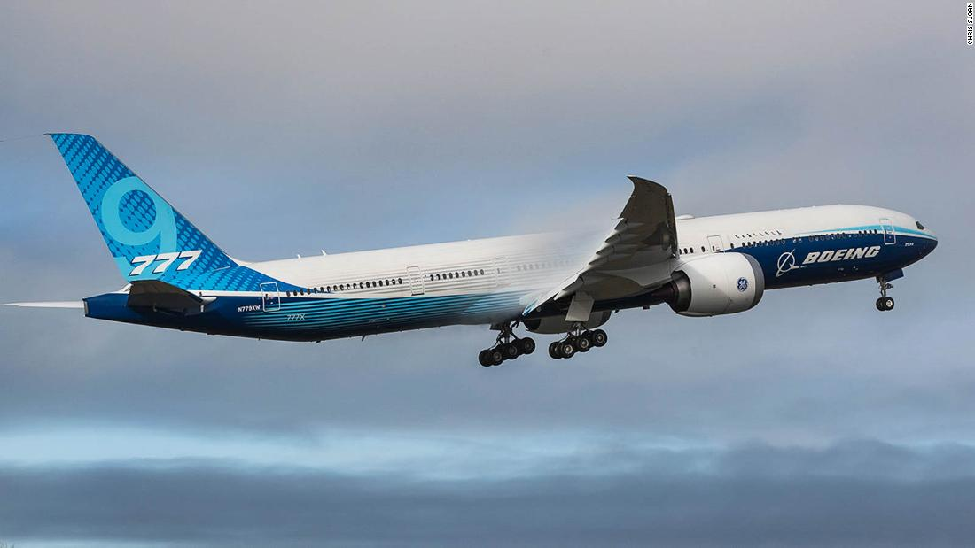 Boeing's huge 777-9X airplane takes its first flight | CNN Travel