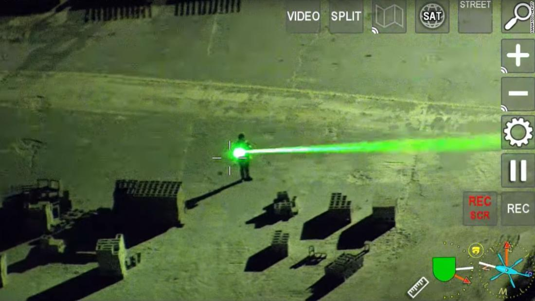 A Florida man was arrested for pointing lasers at planes landing at an airport
