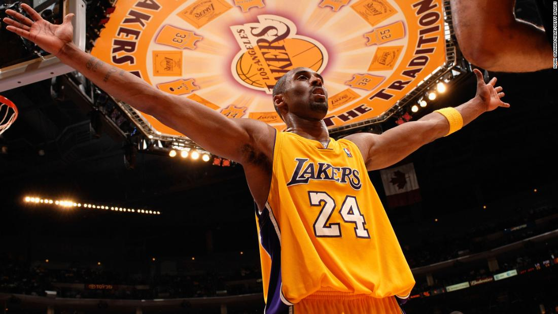 Kobe Bryant, pictured in 2007, spent his entire 20-year NBA career with the Los Angeles Lakers.