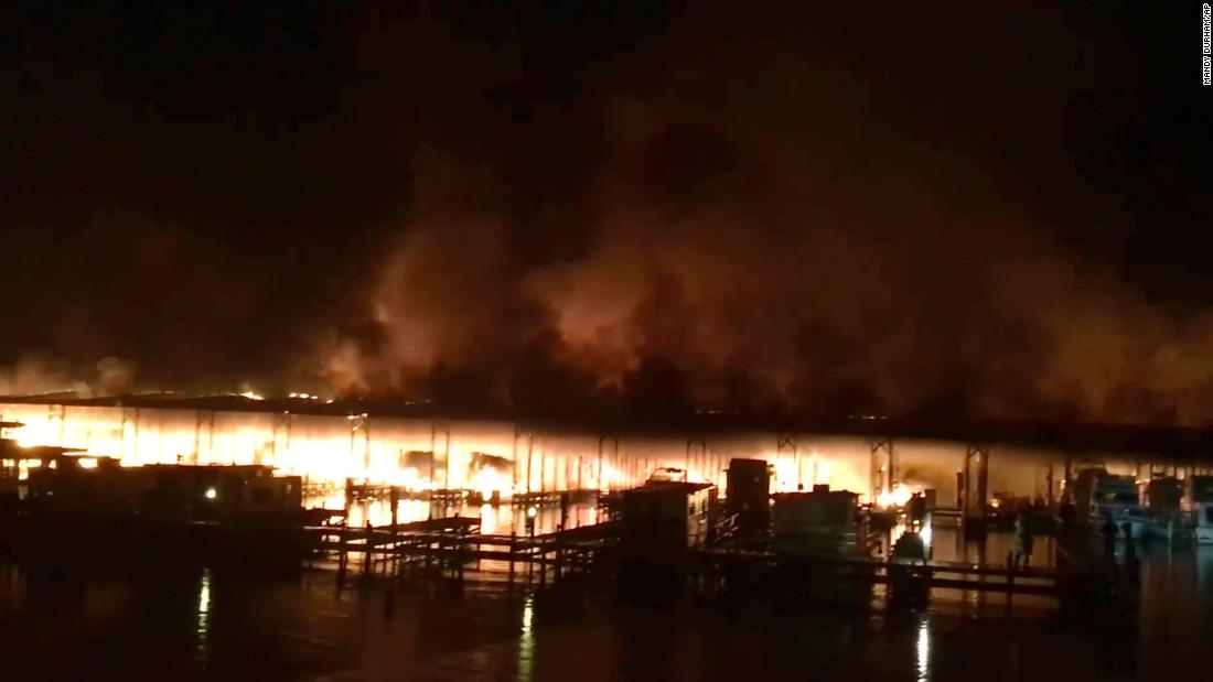 At least 2 dead and more missing as boats catch fire at an Alabama dock
