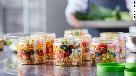 The company packs its salads, pasta dishes and yogurt snacks in recyclable plastic containers.