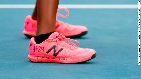 Tennis star Coco Gauff paid tribute Kobe Bryant during her doubles match at the Australian Open on Monday