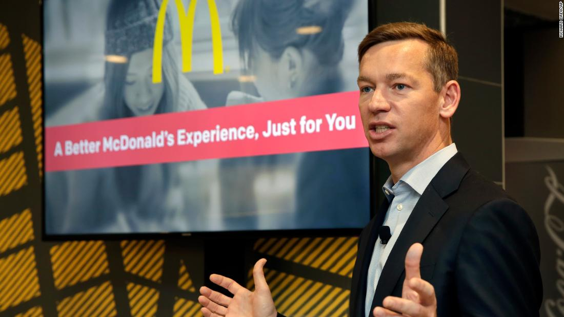 After a tough few months for McDonald's, new CEO makes his public debut