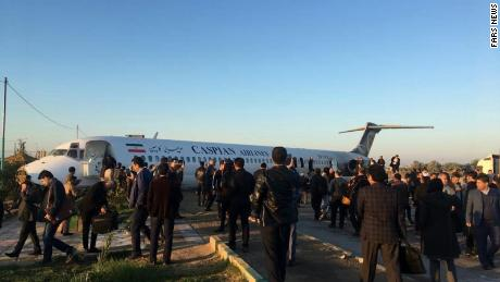 The plane had been arriving from the Iranian capital Tehran.