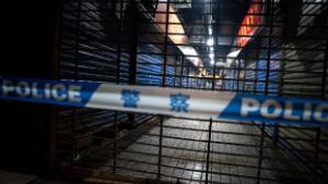 Members of staff of the Wuhan Hygiene Emergency Response Team conduct searches on the closed Huanan Seafood Wholesale Market in the city of Wuhan, in the Hubei Province, on January 11, 2020, where the Wuhan health commission said that the man who died from a respiratory illness had purchased goods. - China said on January 11, 2020 that a 61-year-old man had become the first person to die from a respiratory illness believed to be caused by a new virus from the same family as SARS (Sudden Acute Respiratory Syndrome), which claimed hundreds of lives more than a decade ago. Forty-one people with pneumonia-like symptoms have so far been diagnosed with the new virus in Wuhan, with one of the victims dying on January 8, 2020, the central Chinese city's health commission said on its website. (Photo by NOEL CELIS / AFP) (Photo by NOEL CELIS/AFP via Getty Images)