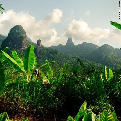 Sao Tome and Principe, Africa.  A thick vegetation covers much of Principe