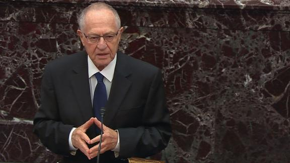Allan Dershowitz in his arguments before the Senate on Monday night