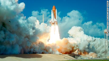 The Space Shuttle Challenger was the world's first partially reusable launch vehicle.