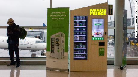 A Farmer's Fridge vending machine at the Indianpolis International Airport.