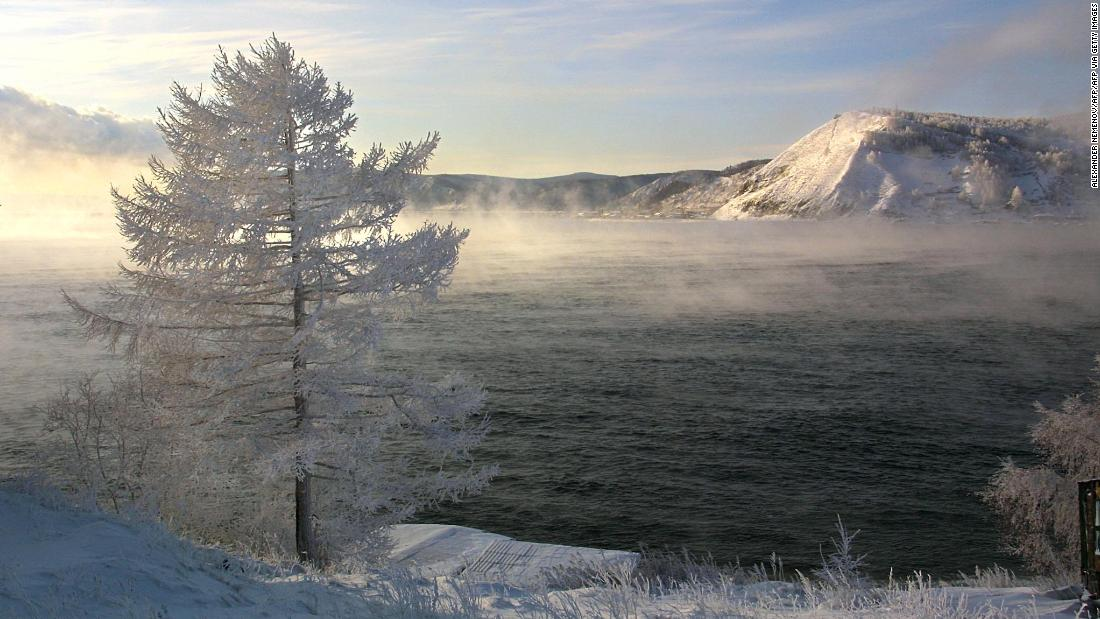 "A view of Lake Baikal taken from the Russian village of Listvyanka, 70 km from the city of Irkutsk. Darwall says, ""It's the world's deepest freshwater lake with huge numbers of endemic species in it."" Endemic species are found nowhere else on Earth."