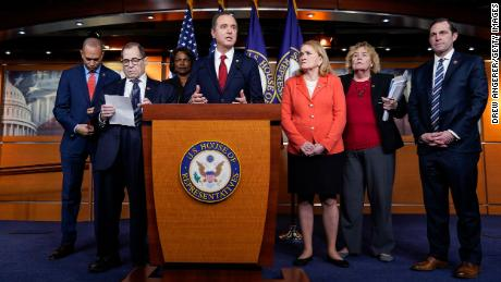 Representative Jason Crowe was photographed on the right, accompanied by fellow impeachment managers in January 2020.