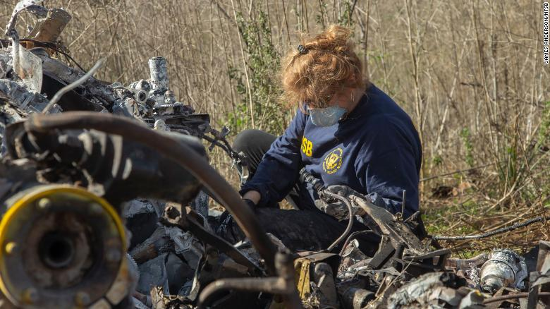 NTSB investigators wrapped up recovery efforts at the crash site Tuesday.