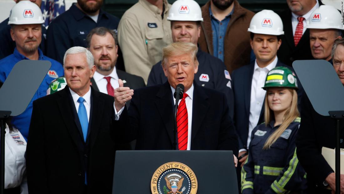 Trump highlights trade win amid impeachment