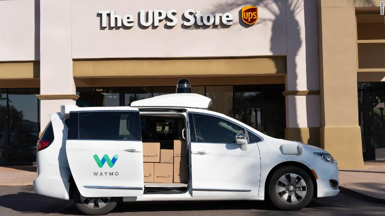 Waymo will transport UPS packages from stores in Phoenix to a facility in Tempe.